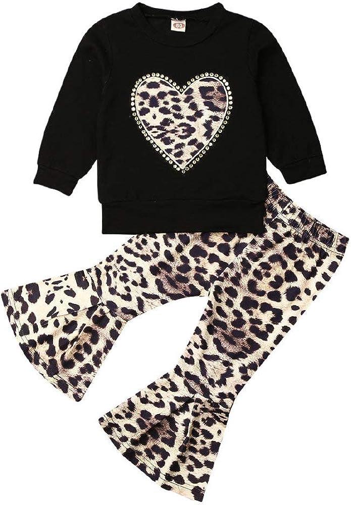 Pants Bottoms Outfit Set Newborn Baby Girls Long Sleeve Casual Top Tee T Shirt