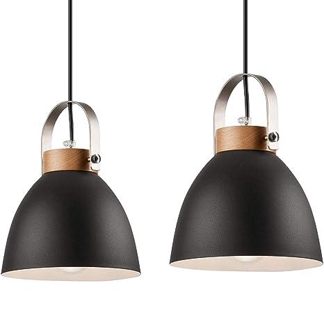 Lámpara colgante Lámpara de techo lámpara de metal E27 ...