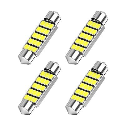 578 LED Bulb, 42mm 41mm 1.65 Inch 15SMD White Light Festoon DE3425 DE3423 LED for Car Interior Dome Map Lights Courtesy Light Trunk Light 211-2 212-2 LED Bulbs, 4pcs: Automotive