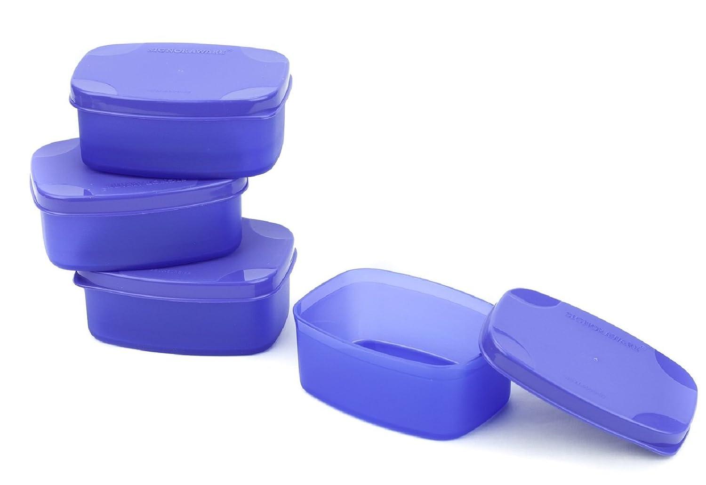 Signoraware Cute Plastic Container Set, 100ml, Set of 4, Violet