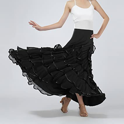 Falda Larga de Mujer Cintura Alta Elástica para Playa Verano ...