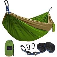 $22 » Kootek Camping Hammock Double & Single Portable Hammocks with 2 Tree Straps,…
