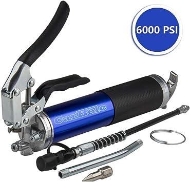 CarBole Strapazierf/ähige Pistolengriff Fettpresse 6000 PSI Schmierung 14oz eloxiertes Aluminium Kanister inkl 30,5 cm Flex Schlauch und 5-1//5,1 cm Metall