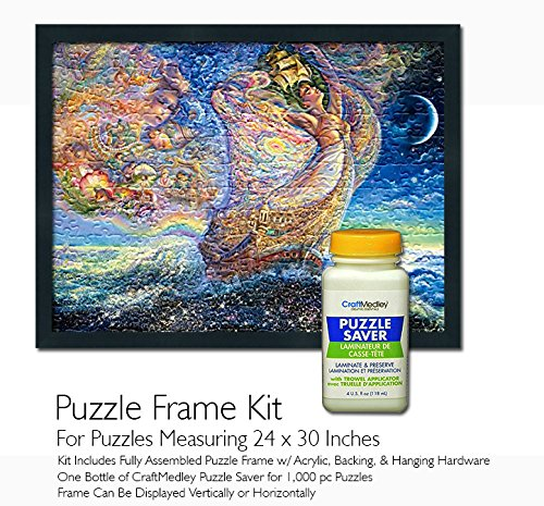 Jigsaw Puzzle Frame Kit - for 24x30 Inch Puzzles - Craft Medley Puzzle Saver