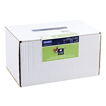 DYMO Etiquetas para tarjetas de identificación/envíos - Etiquetas de impresora (Blanco, Etiqueta para impresora autoadhesiva, Papel, Permanente, Rectángulo, ...
