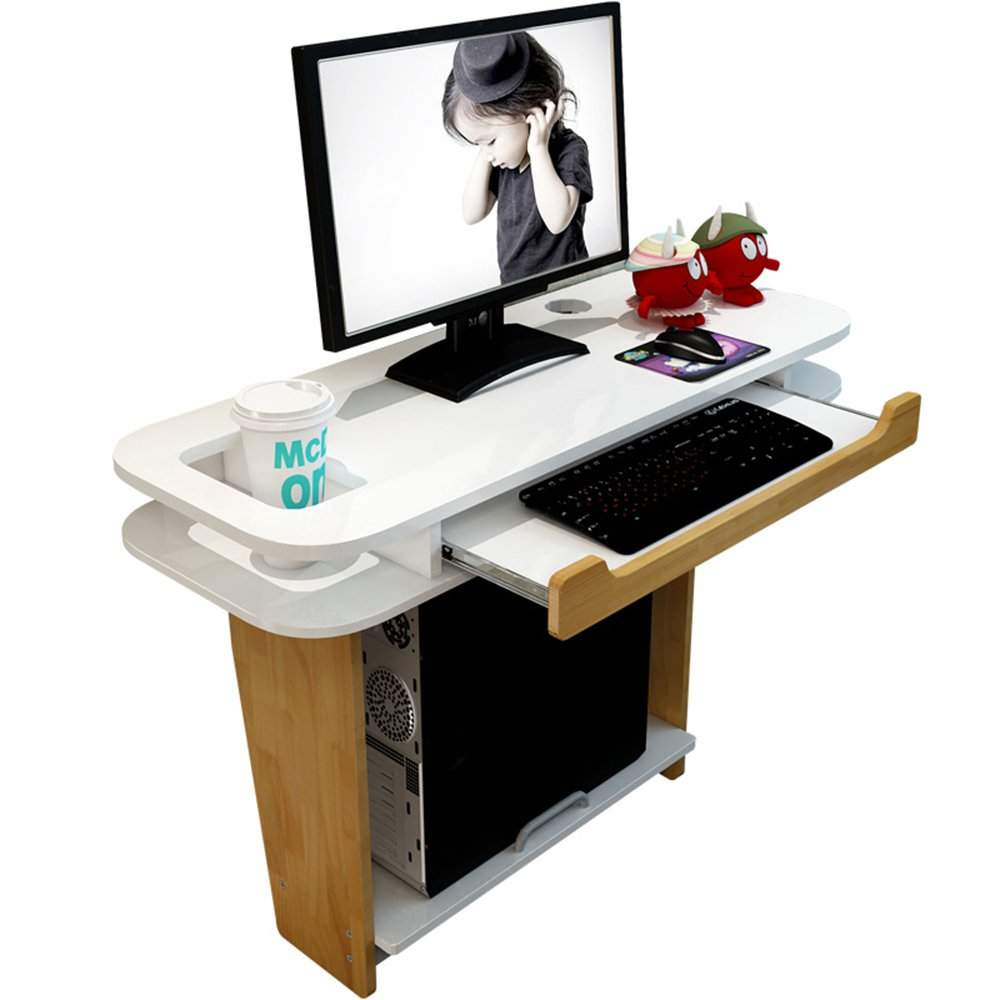 AJZGF Workspace Organizer Bedroom Close to The Wall Computer Desk, Corner Desk, Simple and Modern Wall-Mounted Computer Desk Table, (Color : Table)