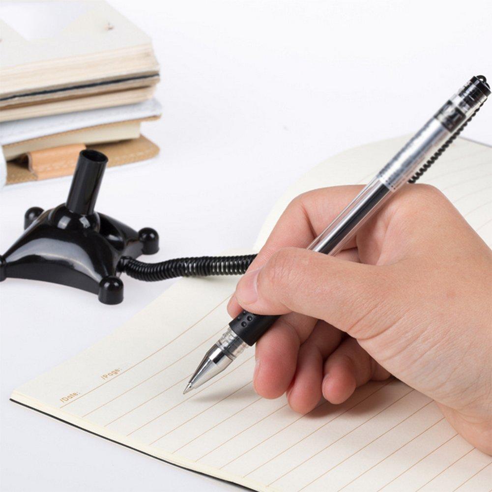 cosanter 3/pezzi penna gel Penne Gel 0.5/mm Nero con qualit/à Premium con extra lunga catena Gel Pen in Nero Inchiostro protezione Papier abziehen