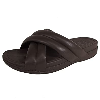 c5c98381bf49 Fitflop Mens X-tracomff Open Toe Slide Sandal Shoes Brown Size  11 ...