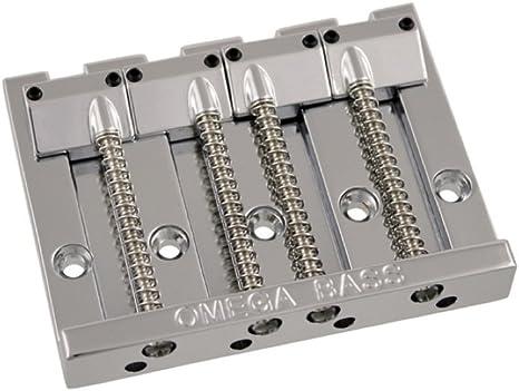 Allparts BB-3350-001 Omega Bass Bridge de 4 cuerdas de níquel de ...