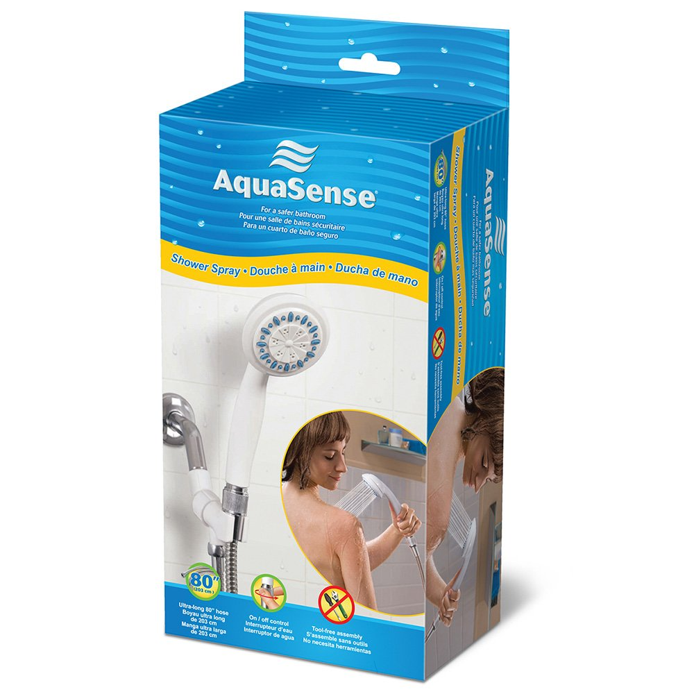 Amazon.com: AquaSense 3 Setting Handheld Shower Head with Ultra-Long ...