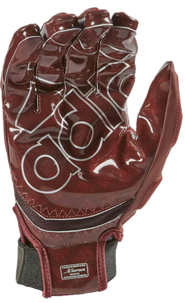 adidas Freak 4.0 Padded Receiver's Football Gloves (Maroon, Large)