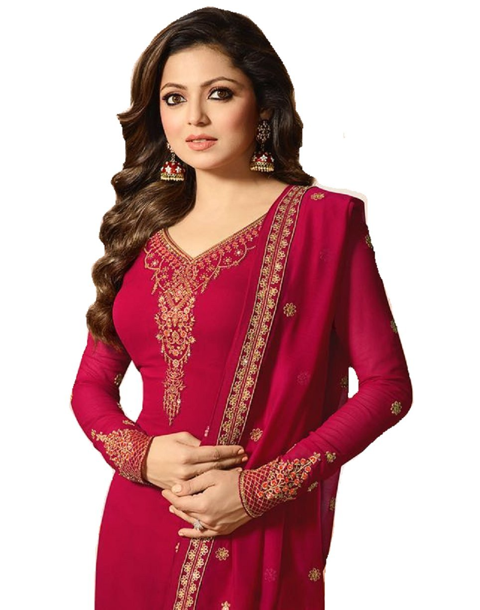 Ready Made Fashionable Designer Straight Salwar Kameez LT Nitya 2201-2208 (Pink, 3X-54)