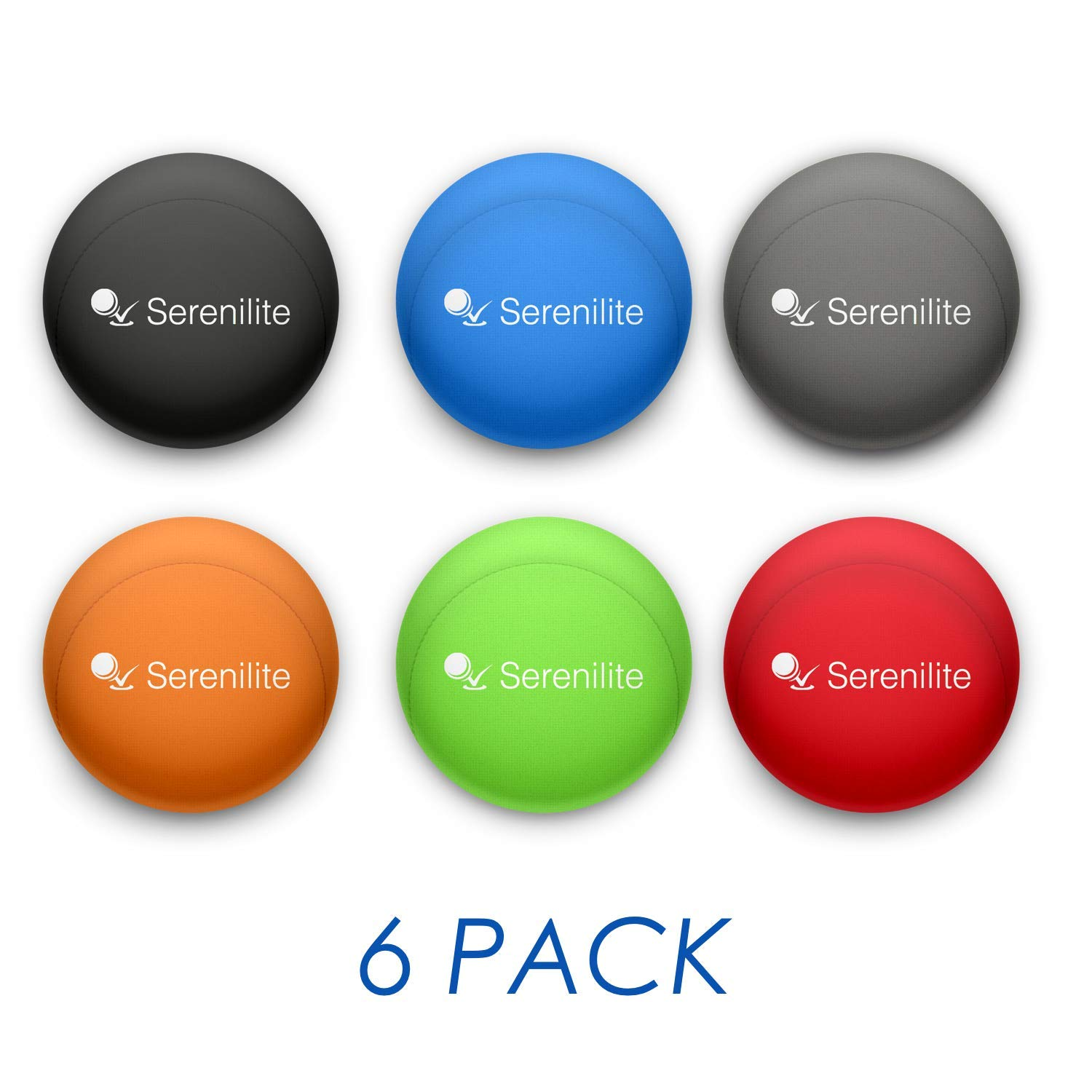 Serenilite Hand Therapy Stress Ball - Optimal Stress Relief - Great for Hand Exercises and Strengthening (6 Ball Bundle) by Serenilite