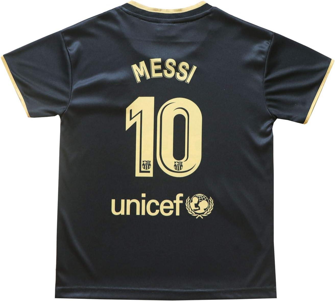 BIRDBOX Youth Sportswear Barcelona Leo Messi 10 Kids Home Soccer Jersey//Shorts Bag Keychain Football Socks Set