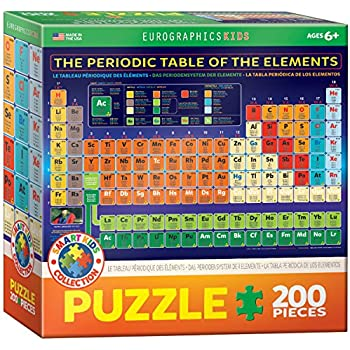 Amazon eurographics periodic table of elements 1000 piece eurographics periodic table of elements jigsaw puzzle 200 piece urtaz Gallery