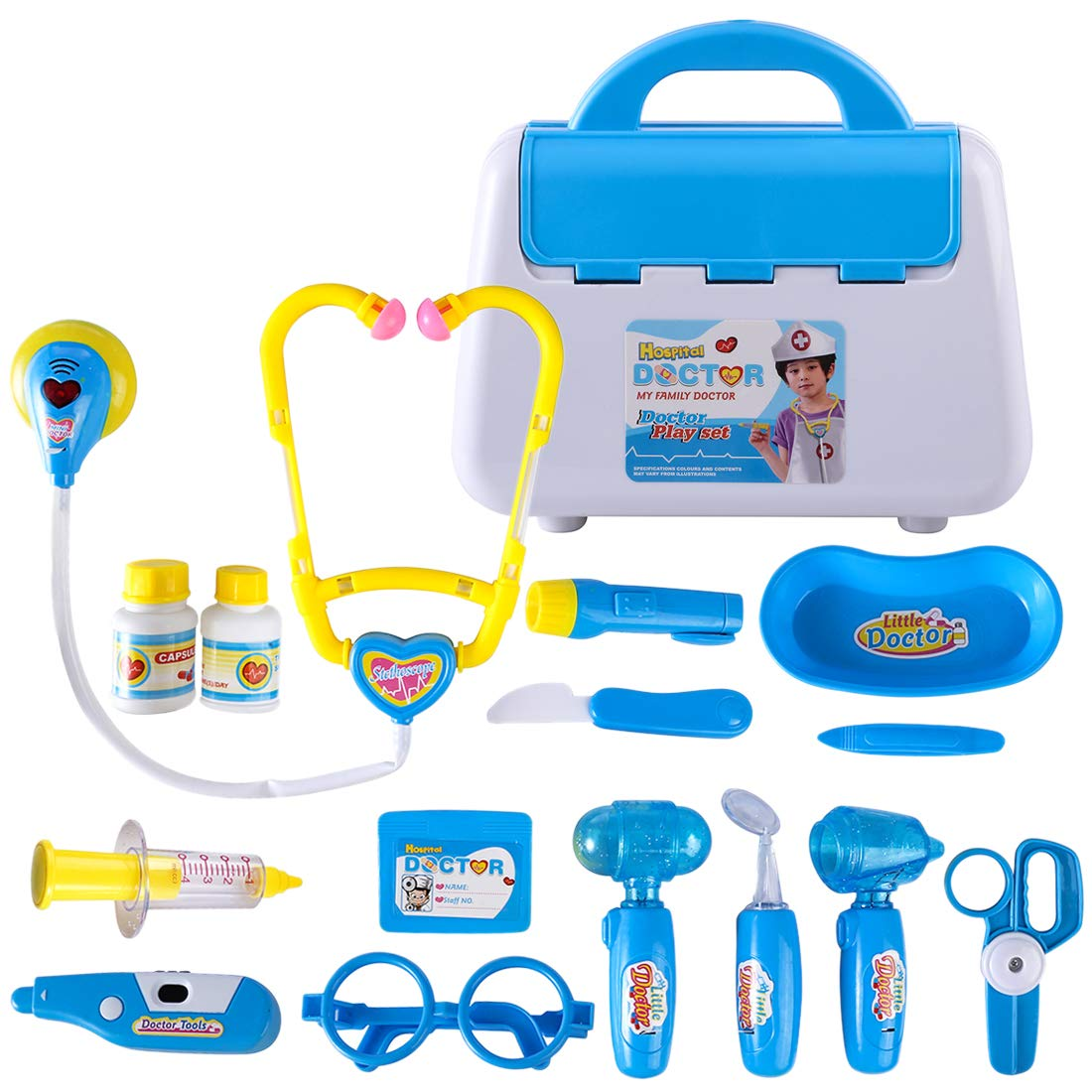 Rolanli Arztkoffer Kinder, 15 Stü ck Emulational Medizinisches Spielzeug fü r Kinder Rollenspiele