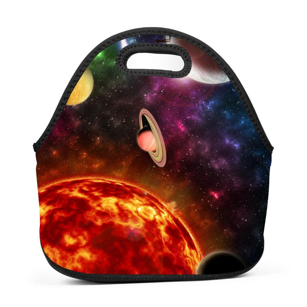 LOGvvl Lunch Tote Funny Solar System Lunch Bag for Adult and Kids - Idea for Beach, Picnics, Road Trip, Meal Prep,Daily, Everyday Lunch to Work or School