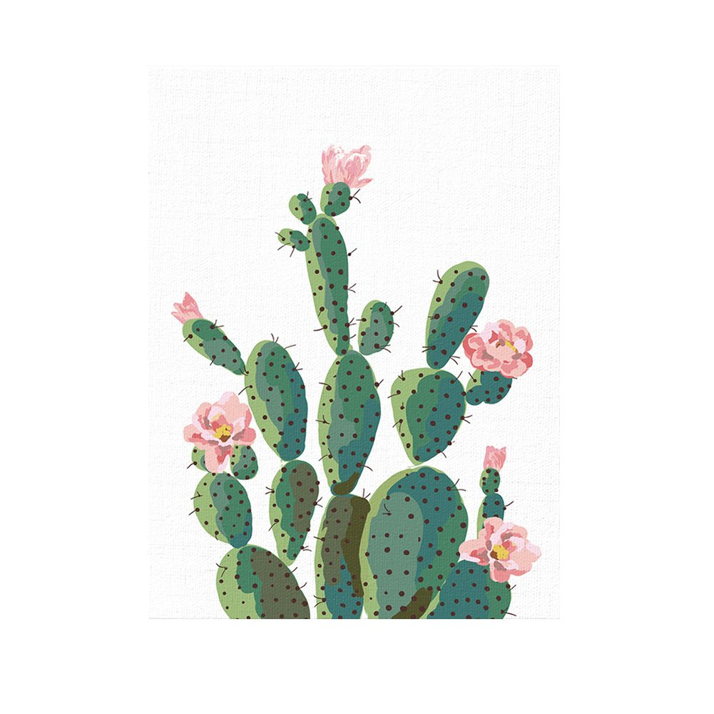 display08 Green Plant Cactus Decorative Wall Art Painting Sofa Background Home Decor - 40cm x 50cm