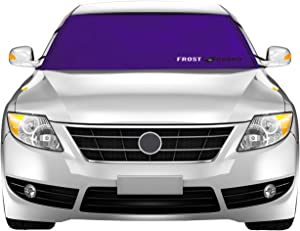 FrostGuard ProTec | Premium Winter Windshield Cover for Snow, Frost and Ice - Cold Weather Protection For Your Vehicle, Purple - Standard Size, Fits Most Cars, Sedans, Small Trucks and SUVs