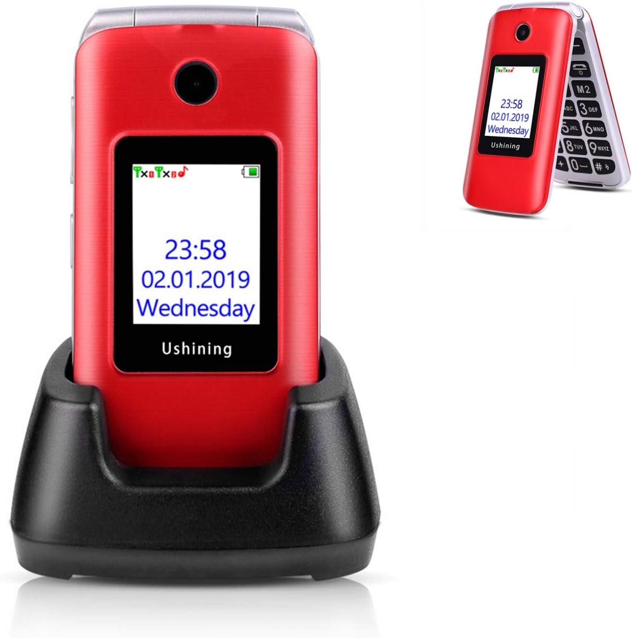 Amazon Com Ushining 3g Unlocked Senior Flip Phone Dual Sim Card