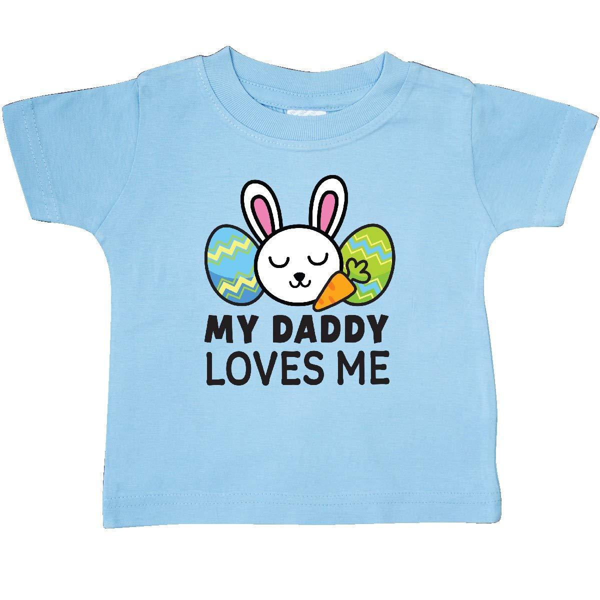 inktastic My Dad Loves Me with Bunny and Easter Eggs Toddler T-Shirt