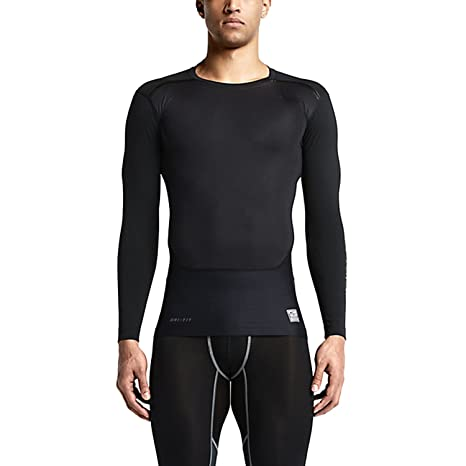 b1ce92c2 Image Unavailable. Image not available for. Color: Nike Mens Pro Combat  Hypercool Vapor Power Compression Shirt (Large, Black)