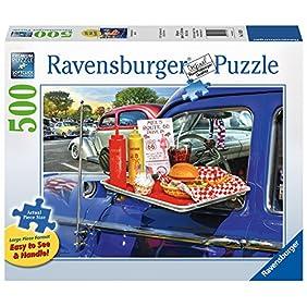 Ravensburger -Drive-Thru Route 66  - 500 pc Large Format Puzzle