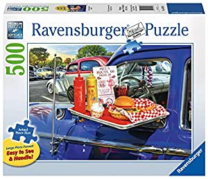 Ravensburger -Drive-Thru Route 66  - 500 pc Large Format Puzzle