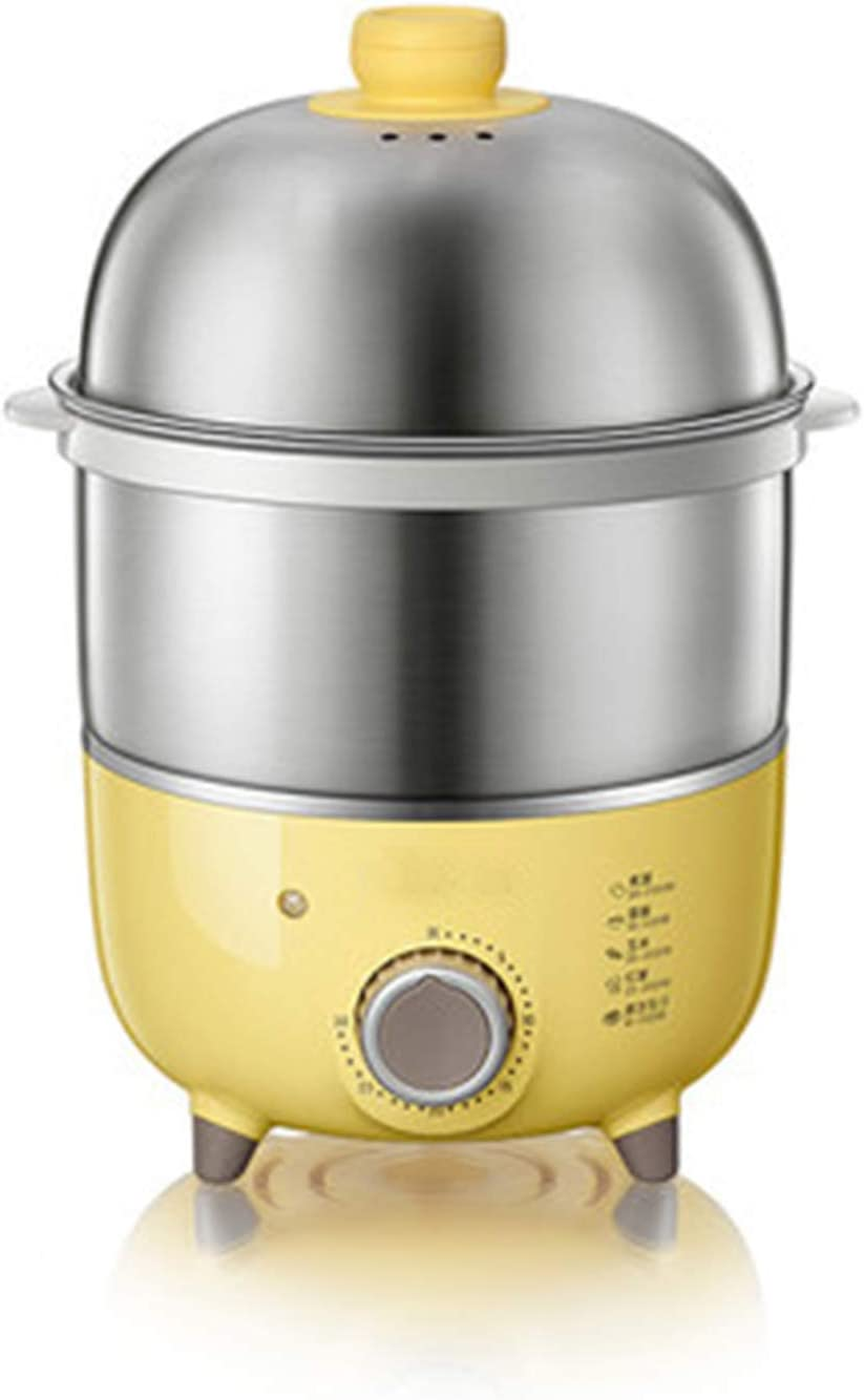 ZXCVB Electric Egg Cooker, Double Layer Rapid Electric Egg Steamer Boiler, 14 Egg Capacity, Auto Shut Off Feature, for Boiled Eggs Steamed Food