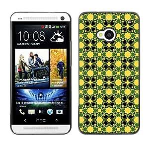 ZECASE Funda Carcasa Tapa Case Cover Para HTC One M7 No.0004242