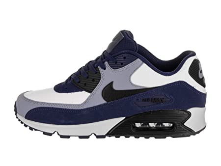 premium selection 39bd7 78b31 Amazon.com  Nike Mens Air Max 90 Leather Running Shoes Blue  Void Black Ashen Slate 302519-400 Size 10  Sports   Outdoors
