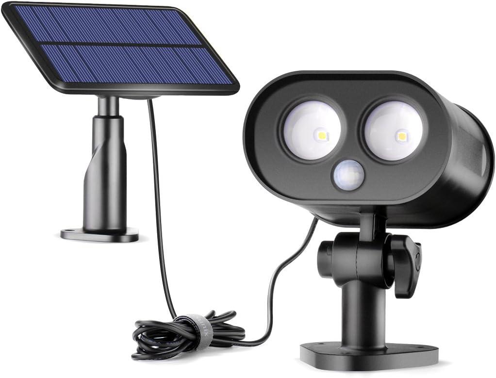 Solar Motion Sensor Lights Outdoor,Sunix Solar Power Security Motion Sensor Lights with Split-Type Panel Wide Lighting Area for Garden,Porch,Yard etc.