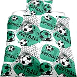 EsyDream Ball Game Print 3D Oil Boys Duvet Cover Sets Twin World Cup Soccer Ball Bedding Sets Boys Men's Football Print Duvet Cover Sets(AU Queen Size Color 11)