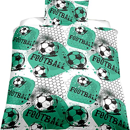 EsyDream Ball Game Print 3D Oil Boys Duvet Cover Sets Twin World Cup Soccer Ball Bedding Sets Boys Men's Football Print Duvet Cover Sets(AU Queen Size Color 11) by EsyDream