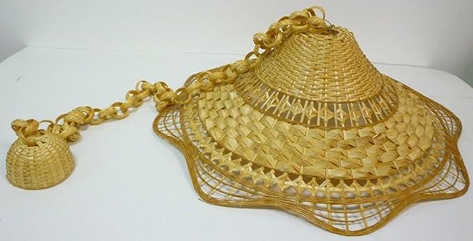 Plafoniere Vimini : Lampadario lampada in bamboo bambù vimini e giunco appendibile per