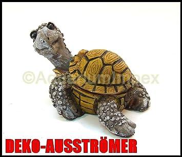 Aquarium Deko Bewegliche Schildkrote Mit Ausstromer Dekoration U 723 Amazon De Haustier