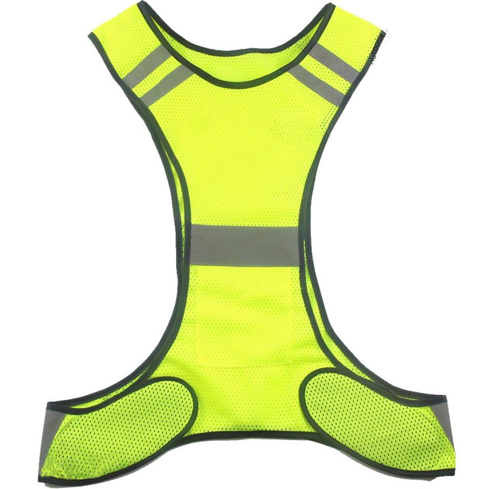 Ueasy - Chaleco de alta visibilidad para corredores y ciclistas, chaleco con rayas reflectantes chaleco con rayas reflectantes -  Amarillo - SOGSV4