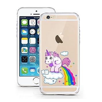 LicasoR IPhone 5S 5 SE 4quot TPU Einhorn Wolke Regenbogen Himmel Hulle Sketch Unicorn