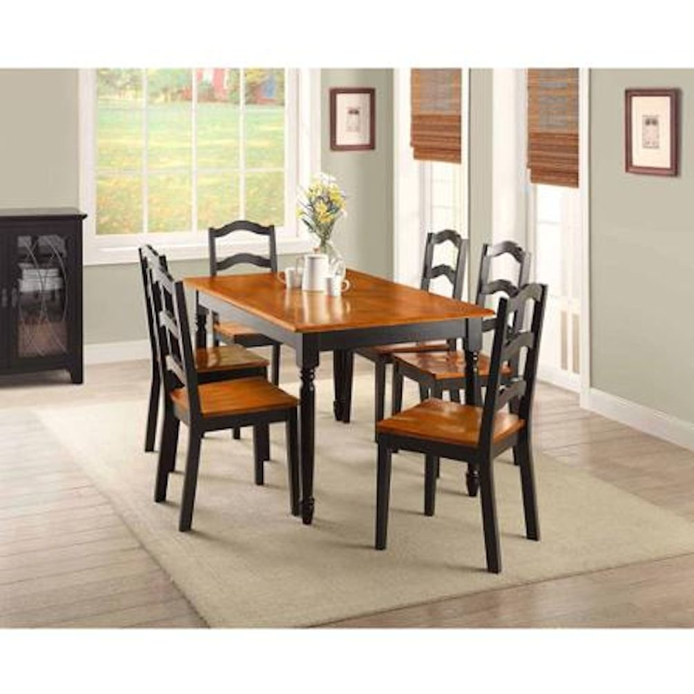 Great Amazon.com   Better Homes And Gardens Autumn Lane Table With Four Ladder  Back Dining Chairs Black And Oak For Great Meals And Dinners With Family  And ...