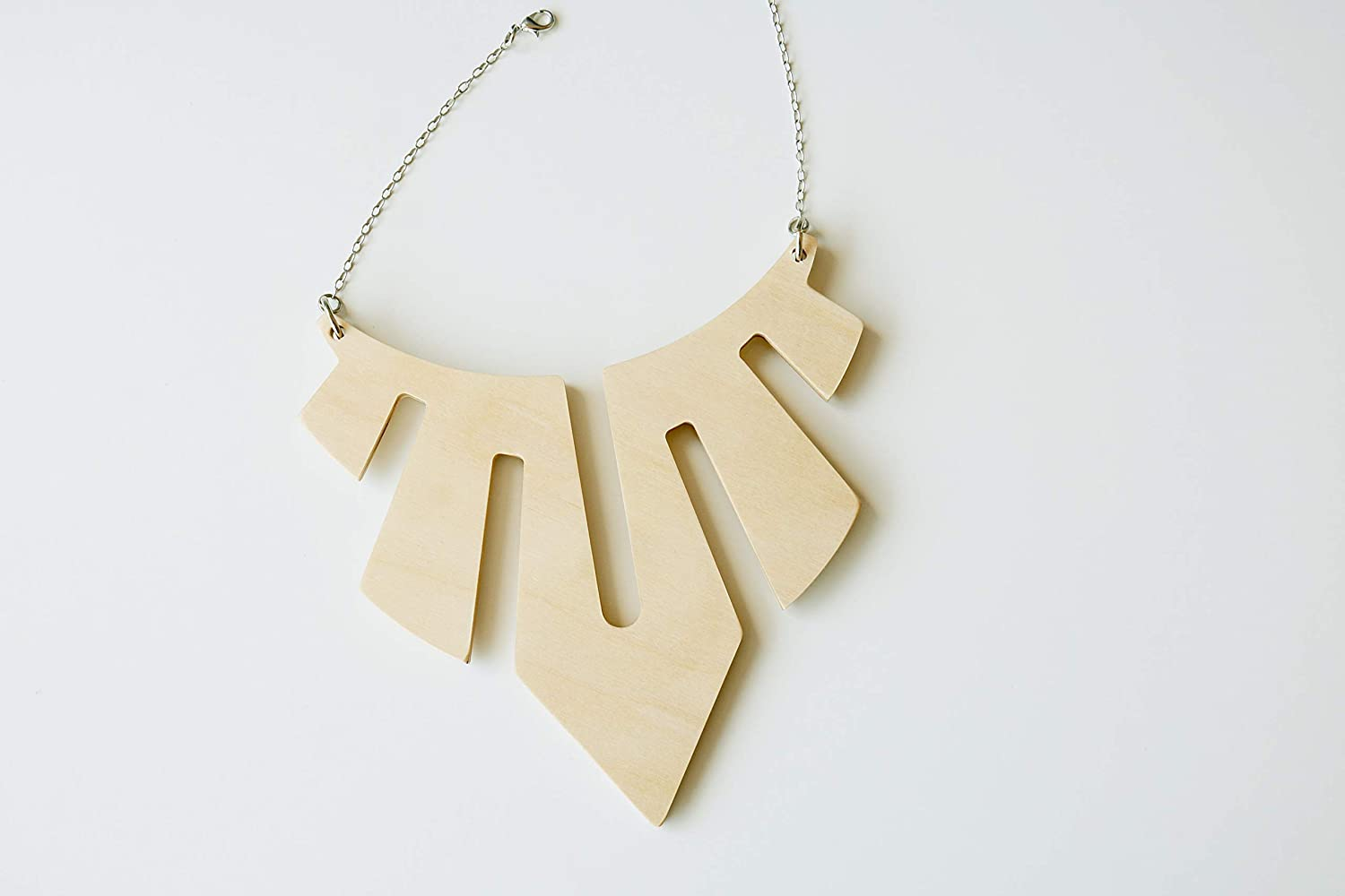 Statement necklace Wooden necklace Bold necklace Wood Abstract necklace Statement wooden necklace Big necklace