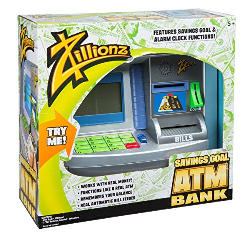 Zillionz Savings Goal ATM Bank - Deluxe Atm Toy Bank