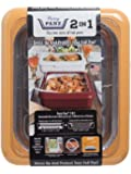 Fancy Panz FP21007 2 in 1 Portable Casserole Carrier for Indoor and Outdoor Use, Fits Shallow or Deep, Bonus Serving Spoon and Foil Pan Included, 13 x 11 x 3.5 inches, Harvest