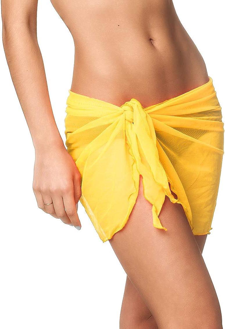 Coqueta Swimwear Chiffon Cover up Beach Sarong Pareo Swimsuit Wrap PLUS SIZE !