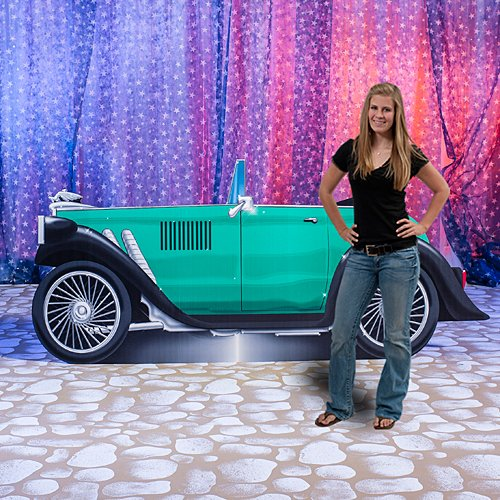 Shindigz 1920's Car Standee Party Decoration Standup Photo Booth Prop Background Backdrop Party Decoration Decor Scene Setter Cardboard Cutout -