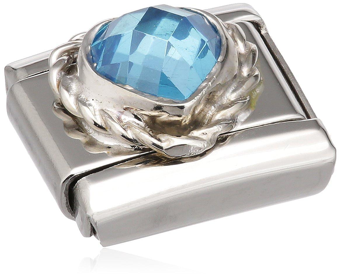 Nomination 330603/006 - Maillon pour bracelet composable Femme - Acier Inoxydable- Oxyde de Zirconium 330603-006