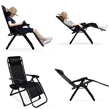 Amazoncom Ezcheer 2 Pack Zero Gravity Chair 354x256x433 Inch