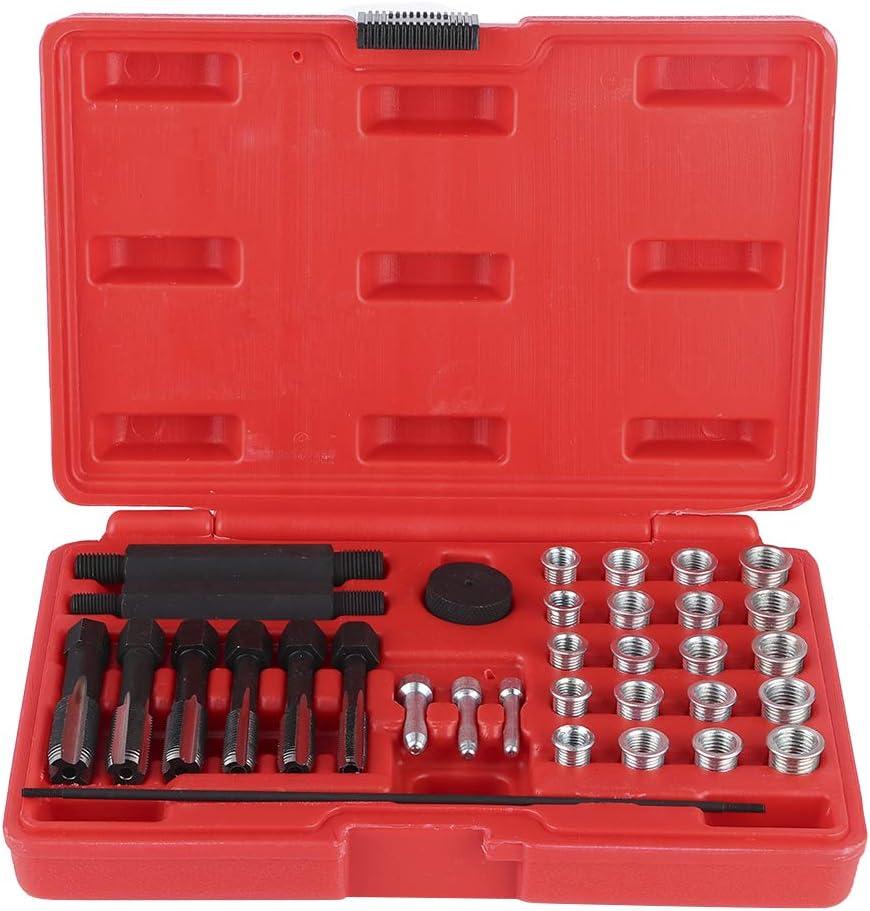 accessori per la manutenzione di accessori per la rimozione delle candelette in acciaio Testate 33Pcs M8 M10 M12 M14 Kit di riparazione filettatura per rimozione candele