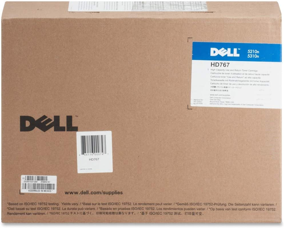 Dell HD767 Black Toner Cartridge 5210n/5310n Laser Printer