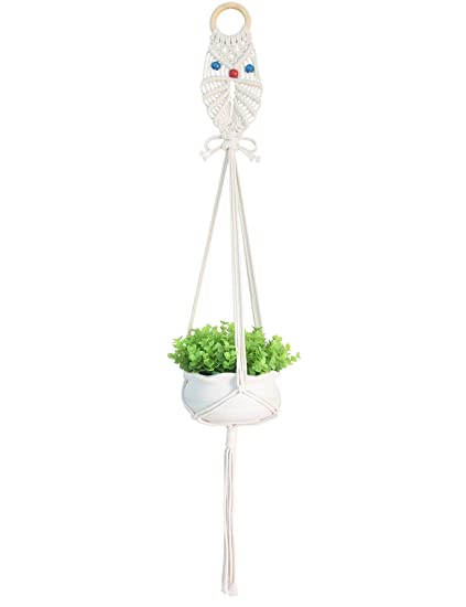 Amazon Com Macrame Plant Hangers Owl Pattern Flower Pot Hanging