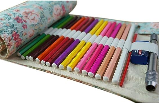 Estuche enrollable de tela Fablcrew, para lápices y otros usos, 36, 48 o 72 agujeros 50*21cm 36 Holes: Amazon.es: Hogar